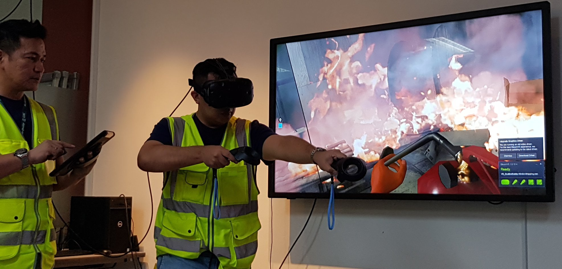brewing up a digital and people first culture at apb singapore VR firefighting
