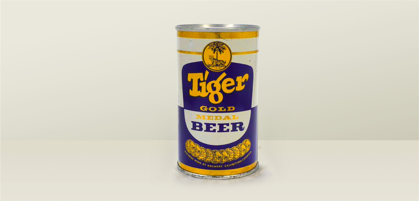 Tiger's first canned beer
