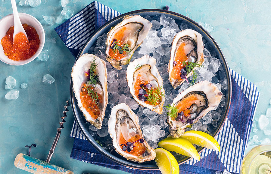 Oyster with Citrus Caviar